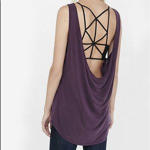 Express one eleven cowl back tank